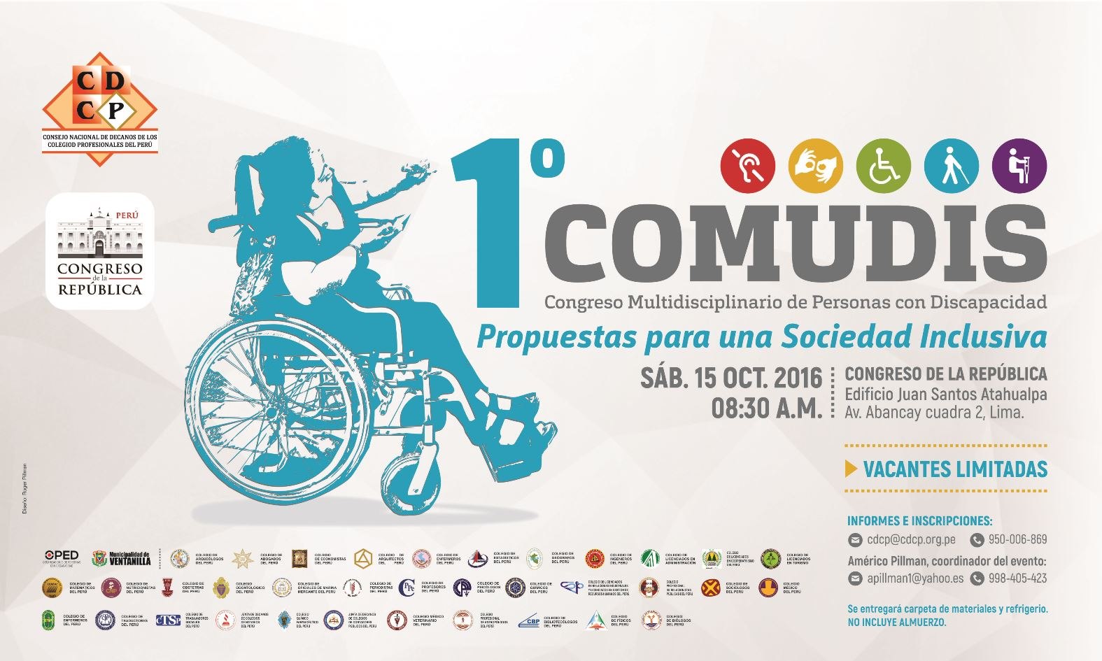 Congreso Multidisciplinario de Personas con Discapacidad. 15 Oct