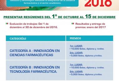 IV PREMIO ADIFAN a la innovacion en ciencias y tecnologia farmaceutica 2016