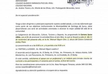 Carta N° 415-2016-SGECTD-MSS