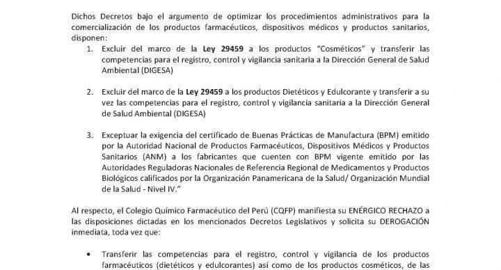 PRONUNCIAMIENTO - Decreto Legislativo N° 1344 y N° 1345