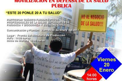 MOVILIZACIÓN EN DEFENSA DE LA SALUD PÚBLICA - 20 Ene. 2 p.m.