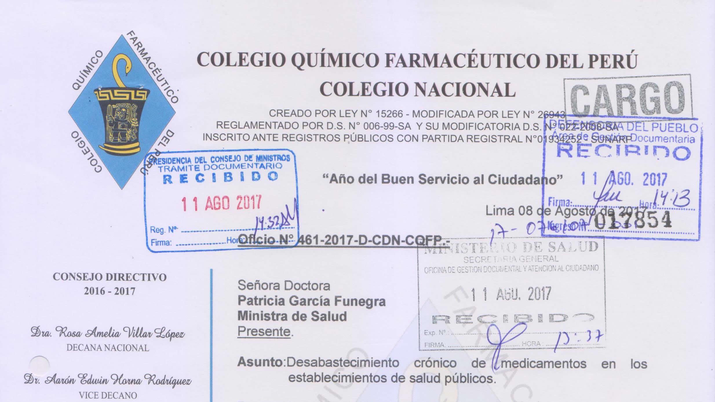 OFICIO N° 461-2017-D-CDN-CQFP