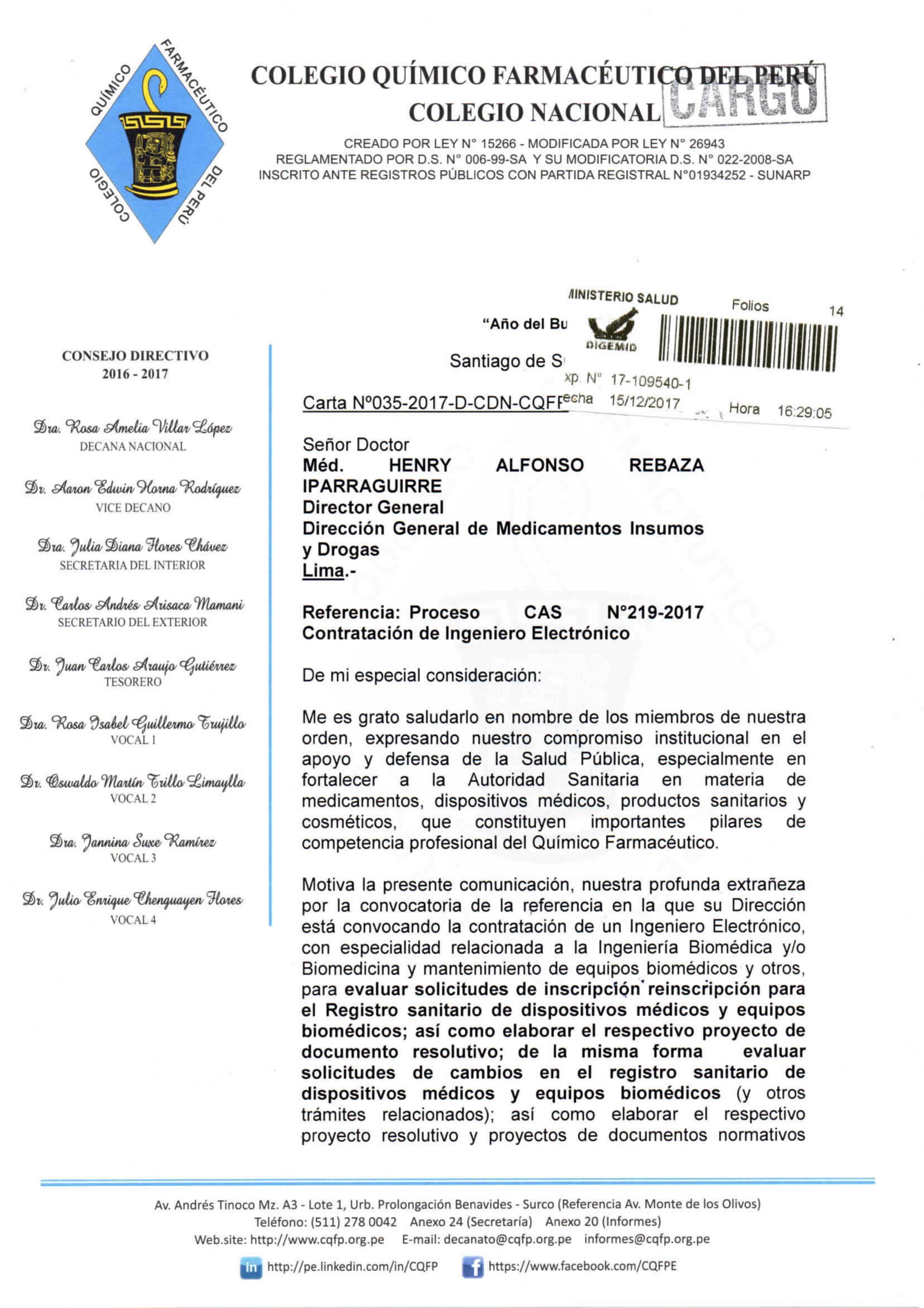 CARTA Nº035-2017-D-CDN-CQFP