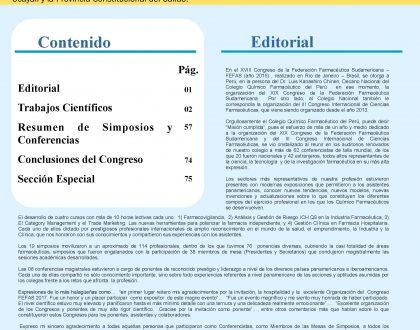 Boletín Científico CQFP N°6 - Noviembre 2017