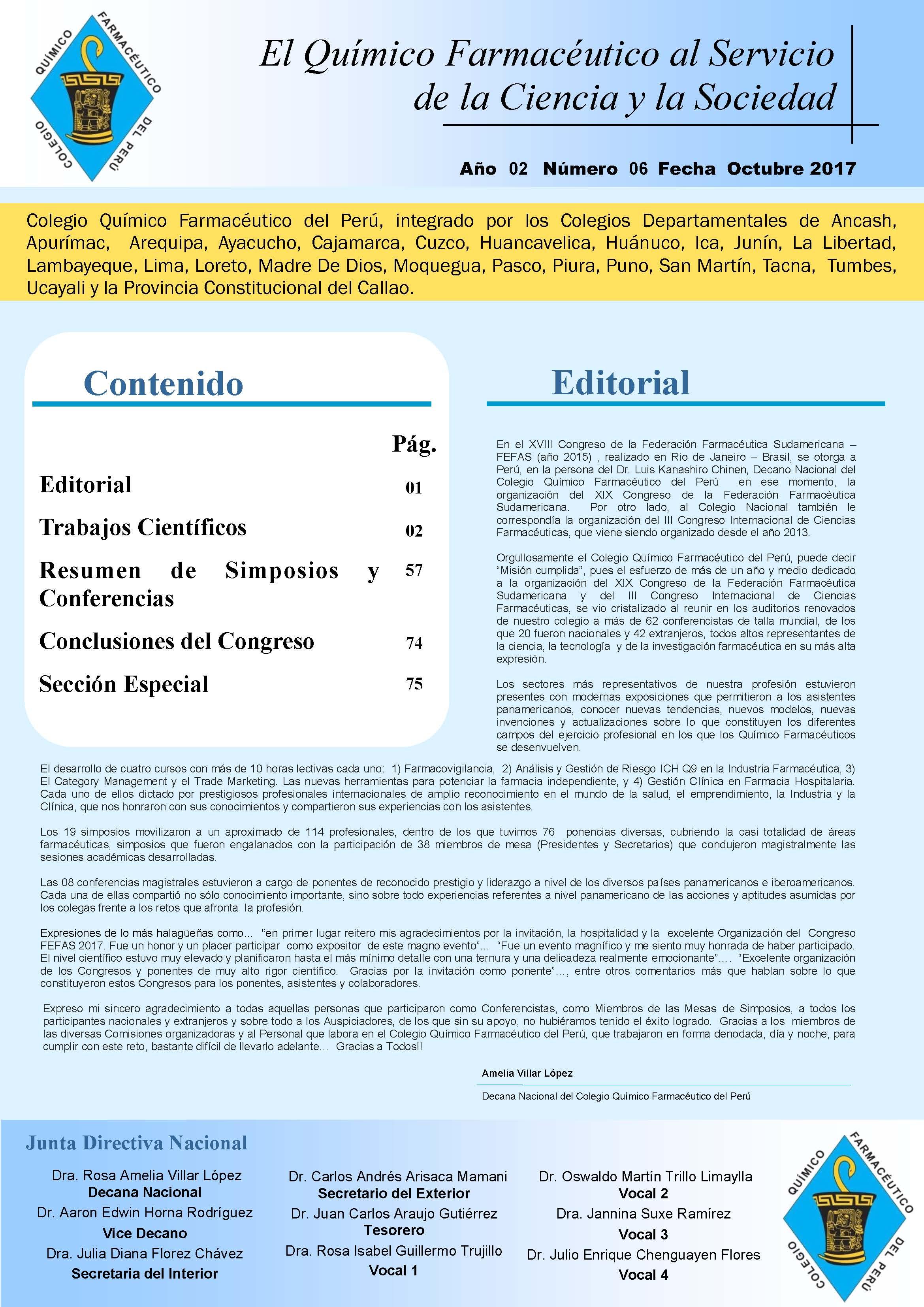 9d9543c023 Boletín Científico CQFP N°6 – Noviembre 2017 – COLEGIO QUÍMICO FARMACÉUTICO  DEL PERÚ