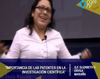 """Conferencia """"Importancia de las patentes en la investigación científica"""""""