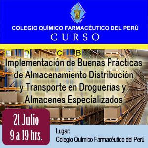 Implementación de Buenas Prácticas de Almacenamiento, Distribución y Transporte en Droguerías y Almacenes Especializados