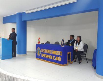 Decano Nacional participa de Junta General Extraordinaria del CQFP de Junín